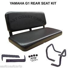 Yamaha G1 Golf Cart Rear Facing Bench Seat Kit Black Vinyl