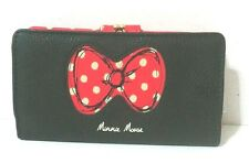 Disney  Park Exclusive Minnie Mouse Wallet Black w Red Dot Bow Signature