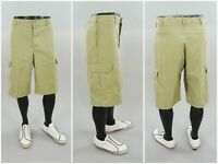 Tan Dickies Knee Length Flat Front Chino Casual Work Skate Cargo Shorts Size 36