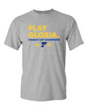 St. Louis Blues 2019 Stanley Cup Champions Play Gloria Custom T-Shirt New