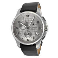 NEW Swiss Army 241553 Classic Officer's Chronograph Steel Mens Strap Watch Date