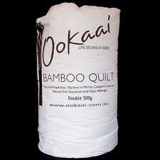 Pure Bamboo Quilt / Doona / Duvet with Cotton Cover 500g - Double