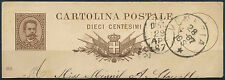 Italy 10c Brown Stationery Cut-Out 1887 #D9310