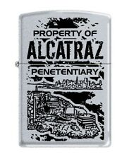 PROPERTY OF ALCATRAZ ZIPPO LIGHTER   FREE  UNITED KINGDOM.   SHIPPING L@@K  ----