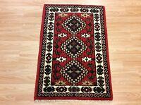 Handmade Rust Red Traditional Persian Tribal Hamadan Wool Rug Mat 60x90cm 50%OFF