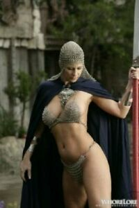 Style Bra chain mail silver link metal bikini goth medieval