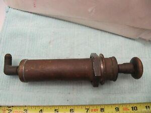 RARE Brass Fuel Pressure Hand Pump SCTA Hot Rod Flathead Midget V8 60 Stromberg