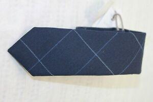 Eleventy Platinum men's Skinny Navy Blue Geometric tie MSRP $130
