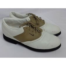Nike women's golf shoes 192018 White Tan Us 8