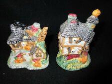 Fitz & Floyd Omnibus Halloween Haunted House Embossed Salt/Pepper Shakers