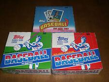 1987  1988  1989 TOPPS BASEBALL CELLO  BOXES