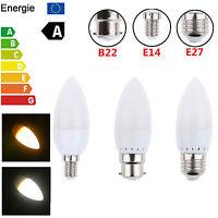 1/10/20pcs 3W B22 E14 E27 LED Candle Light Bulbs Bayonet SMD Lamp Spotlight 220V