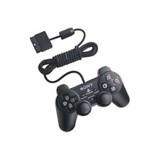 Official Original Sony Dual Shock 2 Wired Playstation PS2 Controller Black USED