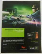 Acer Nvidia 3D Vision Print Ad 8 x 11 in Poster Advertising Fry's Electronics