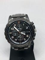 Fossil FS4721 Men's Gray Stainless Steel Analog Black Dial Wrist Watch KG156