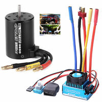 45/60/80/120A ESC/3900KV Splashproof Brushless Motor for 1:10 RC Car Truck Braw