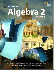 Go Math - Texas Algebra 2 - Volume 2 - Activity Text Work Book