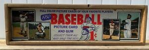 Vintage Style 1950 Bowman Baseball Card Wood Advertising Sign 9x36