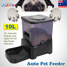 10L Automatic Program Auto Digital Pet Cat Dog Feeder Food Bowl Dispenser AU