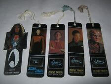 Star Trek bookmarks lot vintage Data Dax Odo THG DSN DS9