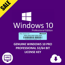 UPGRADE WIND7,8,10 HOME TO WIND10 PRO EDITION GENUINE LICENSE KEY