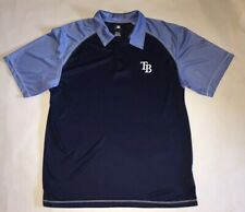 Tampa Bay Rays MLB Baseball Polo Shirt Men's Navy/Light Blue Collared Size XL