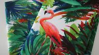 Canvas Baumwollstoff  50 x 140 cm Digitaldruck Flamingo