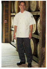 New Baggy Chef Pants, Color: Chalk Stripe, Size: Small - 4000