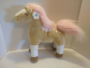 "CIRCO WILD HORSES PONY PILLOW SOFT PLUSH PINK MANE 14"" X 16"" 🦄SHIPS FAST🦄"