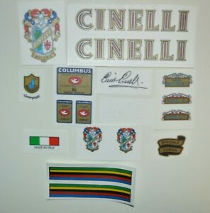 Cinelli 70's full set decals stikers . Signature of Cino Cinelli is included