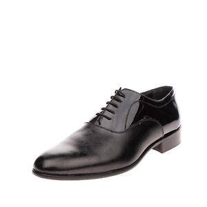 RRP€345 ANGELO PALLOTTA By ANDREA NOBILE Saffiano Oxford Shoes EU 45 UK 11 US 12