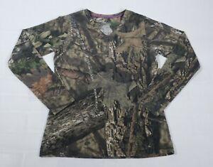 Mossy Oak Womens Long Sleeve Camouflage T-Shirt Sz S