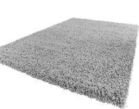 moderne qualité épais Tapis Shaggy souple argenté et 7 tailles Tapis rond tapis