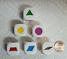 Dice - Koplow's 20mm (6) SHAPES (series #1) - OP White w/Ass't colors - 30% Off!