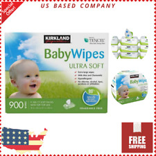 Baby Wipes Ultra Soft With Flip Top Lids Hypoallergenic Fragrance Free 900 Count
