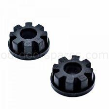 Genuine Castel Garden Black Plastic Wheel Bush Part No.- 322034509/0 Set of 2
