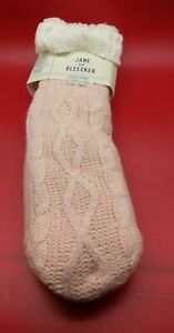1 Pack Jane & Bleecker Slipper Socks Plushfill Lined Size 4-10