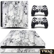 PS4 Slim Marble Skin Decal Sony Playstation 4 Slim Skins Stickers VWAQ-PSGC7
