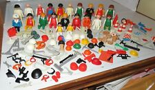 250 pc VINTAGE PLAYMOBIL LOT Figures Construction Farm Animals Hospital Medical