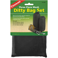 Coghlan's Three Piece Mesh Ditty Bag Set, Drawstring Closure with Cord-Lock