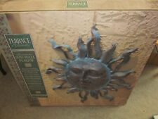 "Aluminum Sun Wall Plaque by Terrace Accents 29.5"" Wide and 31"" tall"