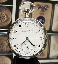 Antique Vintage C1910 Iwc Shauffhausen Niello Chronometer Pocket Watch Serviced
