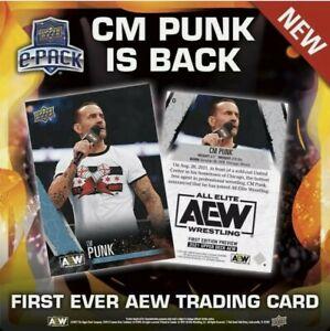 First Ever AEW Card CM Punk #0 Pre-order Wrestling Upper Deck ROH Wrestling WWE