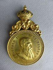 6- MEDAILLE COMMEMORATIVE LEOPOLD II ROI DES BELGES BEAUX ARTS BRUXELLES 1897