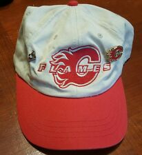 Vintage Calgary Flames Hat With Pins VF