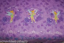 Disney Tinker Bell Fairies Curtains Window Treatment Purple Girls Bedroom Home