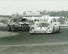 Vintage 8 X 10 1970 Daytona 24 Porsche 917K & Drolet Camaro Auto Racing Photo