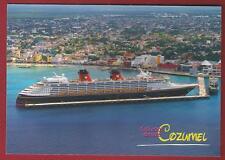 ms DISNEY MAGIC.. cruise ship  P.C. docked in Cozumel  ...profile