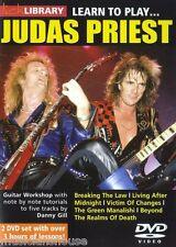 Lick Library aprende a jugar Judas Priest Rock Metal riffs canciones Guitar DVD De Clases