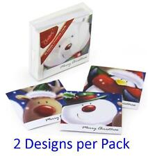 Christmas Greeting Cards Supplies Deluxe 25 Pack with 2 Glitter Designs per Pack